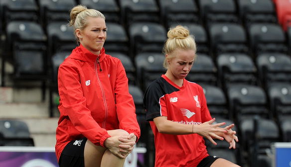 Photo gallery: Reds in training ahead of Arsenal Ladies clash