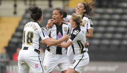 Fern Whelan celebrates her winner against Liverpool