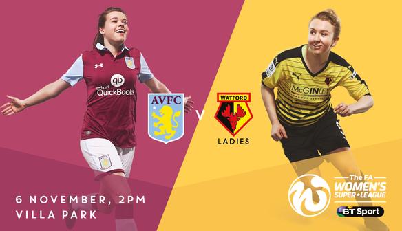 Villa Ladies v Watford: B6 match tickets on sale now