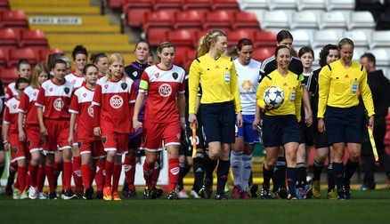 Bristol Academy V's Frankfurt in the UEFA Womens Champions League Quarter Final