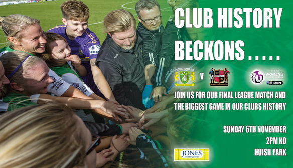 Join us for our final home match of the season.