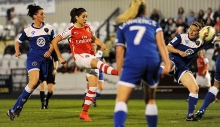 Losada scores her first goal against Bristol