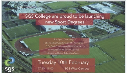 SGS Sport Degrees Launch