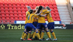 Team Celebrates V Oxford United