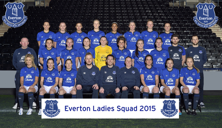 Everton Ladies Squad 2015