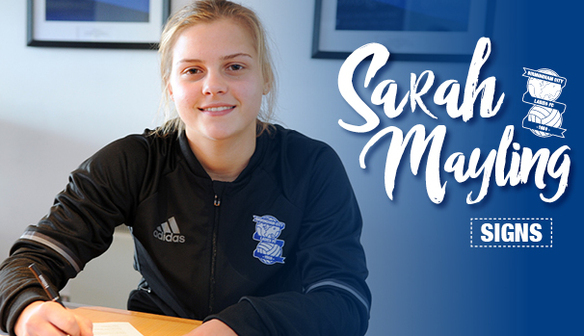 Blues sign midfielder Sarah Mayling from Villa Ladies