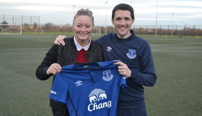 Ellie Stewart alongside Andy Spence