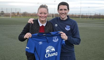 Ellie Stewart alongside Andy Spence