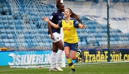 Carla Humphrey scores against Millwall in the FA CUP