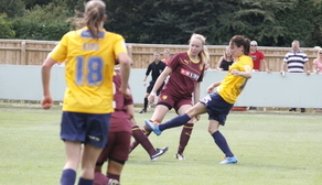 Laura Low blasts home against Watford