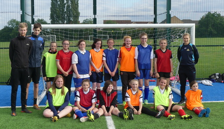 SISTER CLUB: Emily Simpkins attends Belles Juniors training