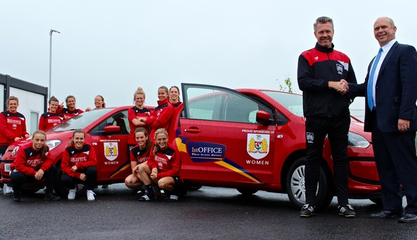 1st Office Provide Bristol City Women's FC With Club Cars