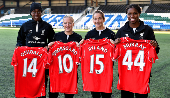 Liverpool Ladies signed shirt competition winners