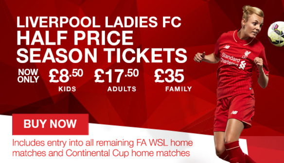 Half Season Tickets available to buy now