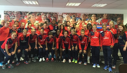 Thierry Henry visits the team
