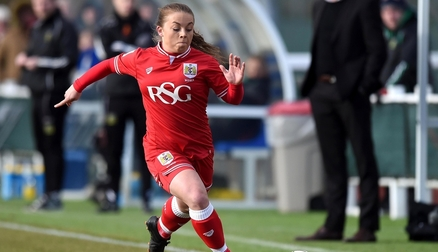 Paige Sawyer in action during Sunday's SSE Women's FA Cup match