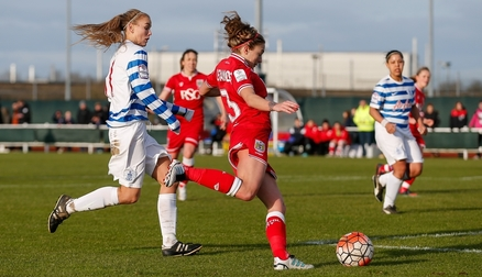 Megan Alexander in action VS QPR Ladies