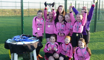 Megan with the winning team at Formby Inter School tournament.