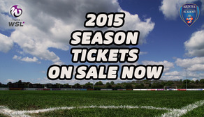 2015 SEASON TICKETS - on sale now!