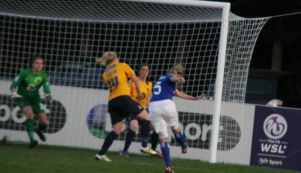 Billie Brooks effort on goal