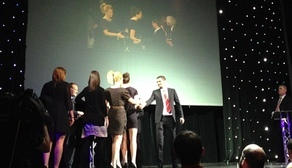Adam Johnson presents Team of the Year award