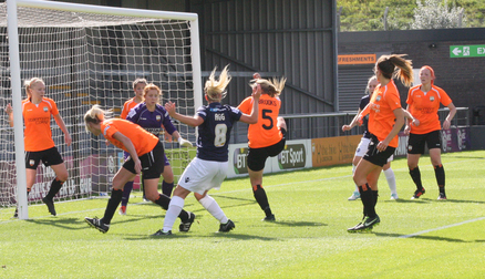 Lily Agg attacks the Bees goal