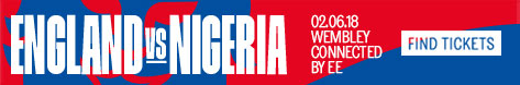 Find England vs Nigeria football match tickets today!