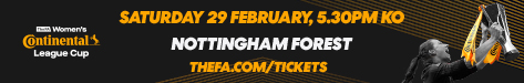 Buy tickets to FA Women's Continental Tyres League Cup Final 2020