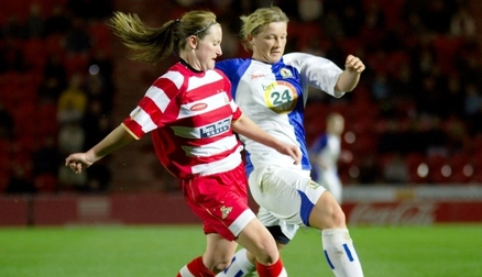 Emma In Action v Blackburn Rovers in 2007