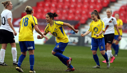 Courtney Sweetman-Kirk wheels away in celebration