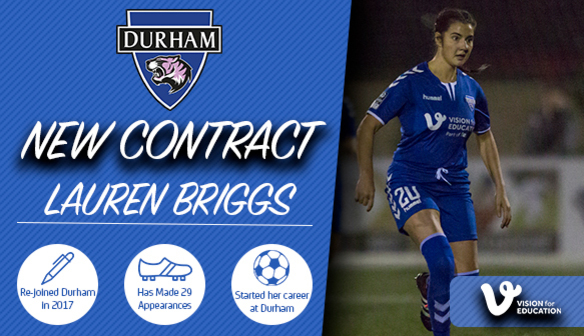 SIGNING: Briggs extends her stay