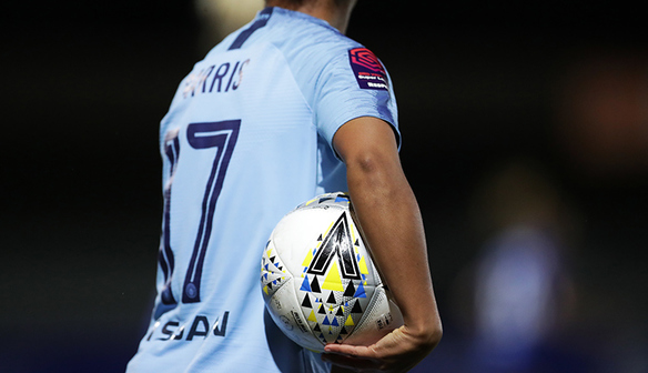 Nikita Parris with the match ball