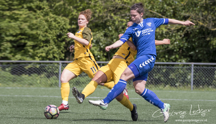 Zoe Ness in action, Durham WFC 4 - 0 Brighton and Hove Albion