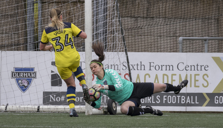 Helen Alderson makes a great save, Durham 1 - 1 Oxford United, Apr 2018