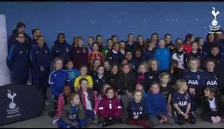 TOTTENHAM HOTSPUR LADIES' FIRST-EVER FOOTBALL CAMP