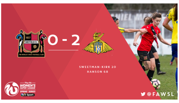 Report: Sheffield 0-2 Doncaster Rovers Belles