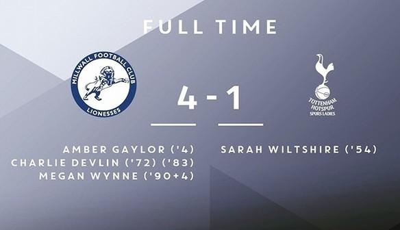 Lionesses 4-1 Tottenham Hotspur