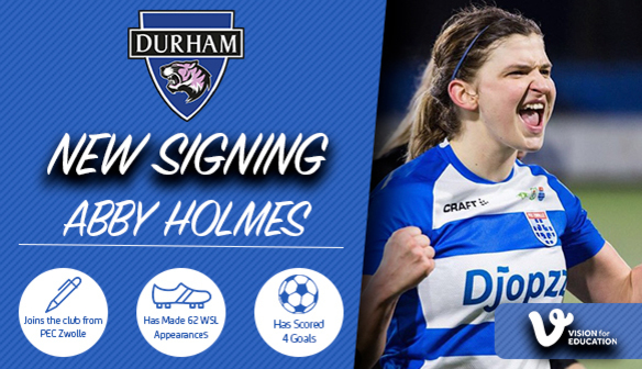 NEW SIGNING: Holmes is where the heart is!