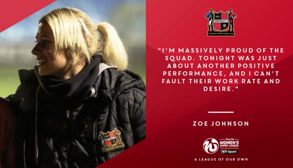 "Zoe Johnson ""Proud of Squad"" After Sunderland Draw"