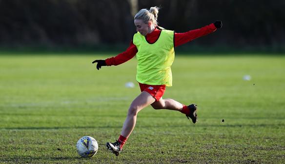 Reds forward Ashley Hodson nearing injury comeback