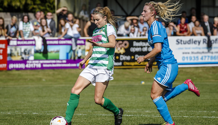 Wiltshire in action last season against Sunderland AFC Ladies