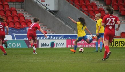 Maz Pacheco gets Belles' third goal against Watford