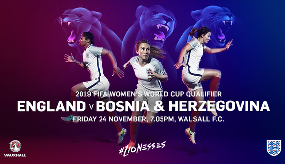 WIN TWO FAMILY TICKETS FOR ENGLAND V BOSNIA & HERZEGOVINA