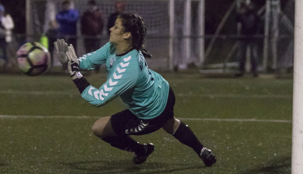 Helen Alderson saves a penalty in the shootout - Durham 0 - 0 Sunderland AFC