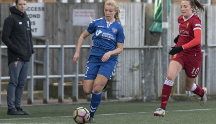 Emily Roberts in action - Durham 0 - 0 Liverpool Ladies