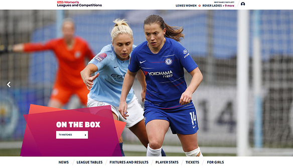 New website for Barclays FA WSL and Championship