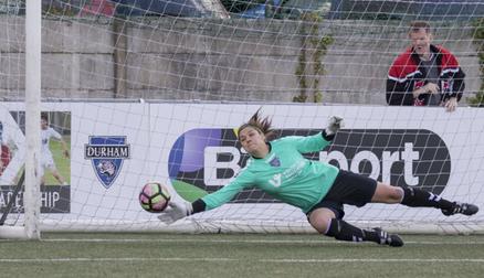 Helen Alderson in action - Durham 4 - 0 Watford