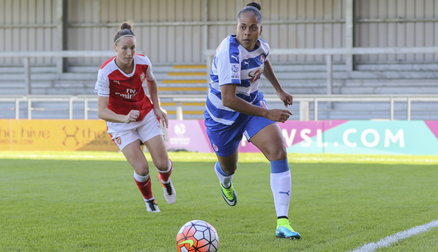 Jade Boho-Sayo charges down the wing against Arsenal in the Conti Cup!