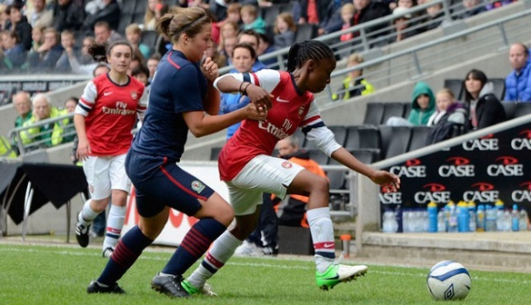 Action from 2013 National Girls' Youth Cup Final. Arsenal 1-3 Blackburn Rovers