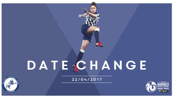 Fixture Change v Oxford
